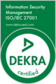 Dekra - Information Security Management ISO/IEC 27001 zertifiziert
